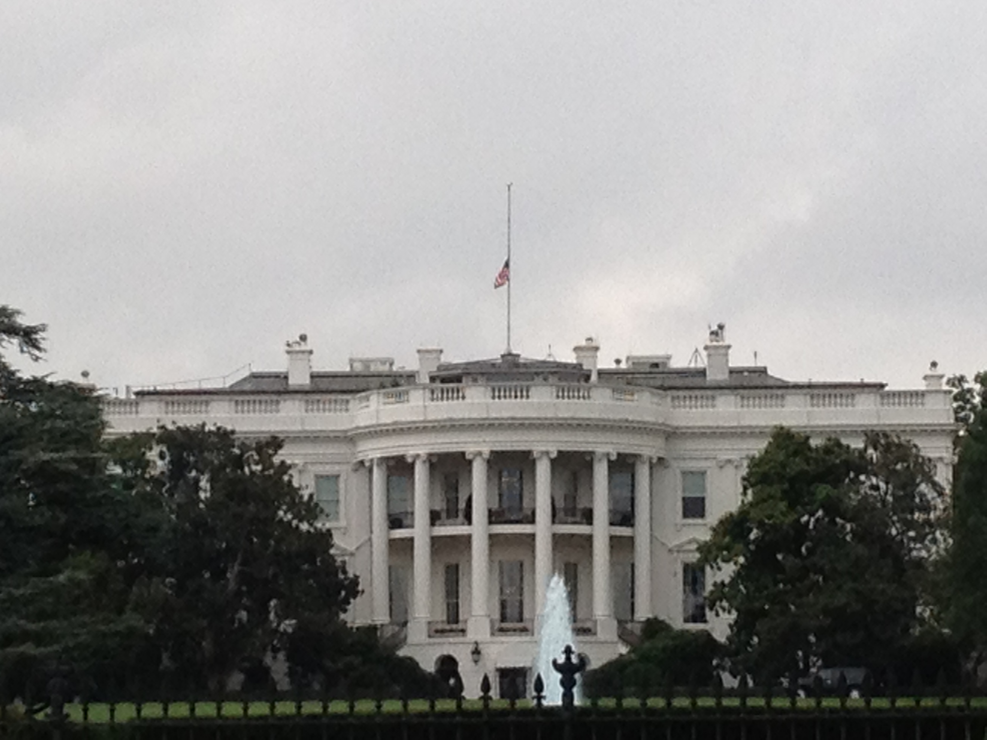 Why are the flags at half-mast?